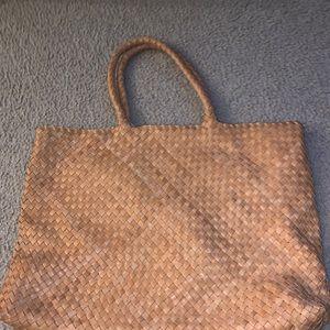 The Anna Woven Handbag In Vachetta from Milaner